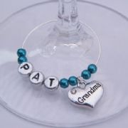 Grandma Personalised Wine Glass Charm